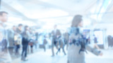Blurred image of business people walking, Blur abstract backgrou