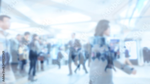 Blurred image of business people walking, Blur abstract backgrou - 118823349