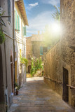 Alleys, streets and crannies in the tourist town in Tuscany, Chi
