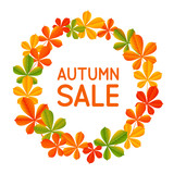 Autumn leaves frame for Your design