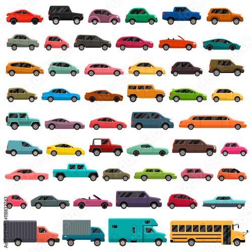 Car Types Vector Set
