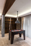 Foosball table in home interior