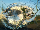 Street mirror broken by vandals - 118835185