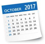 October 2017 calendar leaf - Illustration