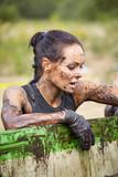 extrim race concept. Survival woman