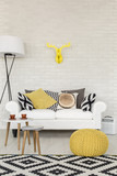 Comfortable sofa corner in a contemporary flat