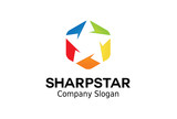 Sharp Star Logo Design Illustration