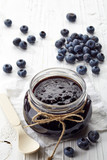 Jar of blueberry jam