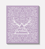 merry christmas frame vintage style vector illustration design