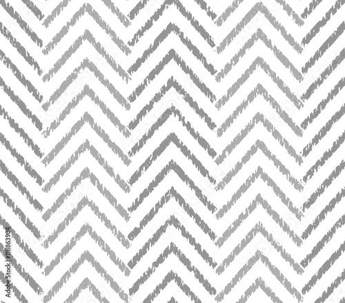 Gray zigzag grunge pattern - 118863904