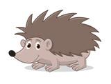 Cartoon Vector Illustration  Of Hedgehog.