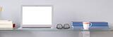 Weißer Bildschirm von Laptop Computer