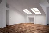 Leerer Raum im Dachgeschoss