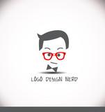 Creative logo design idea nerd