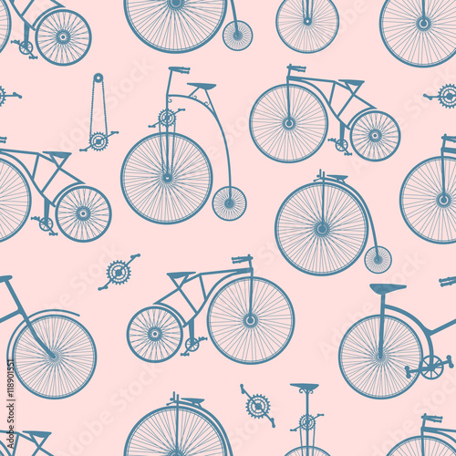 Materiał do szycia Background bicycle seamless