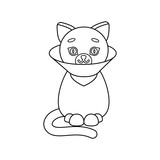 Cat sick icon of vector illustration for web and mobile