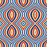 Bright ethnic abstract background. Seamless pattern with symmetric geometric ornament.