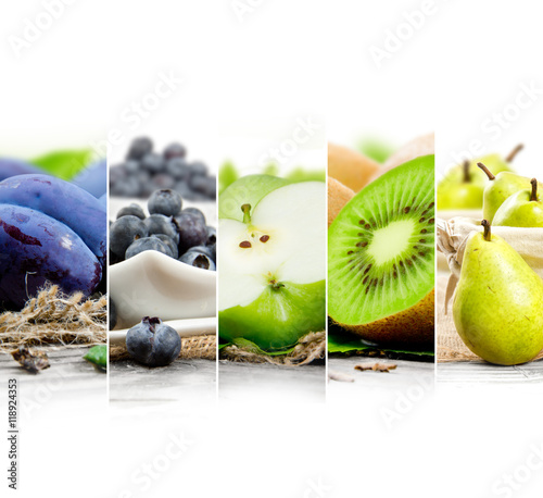 Fruit Mix Stripes - 118924353