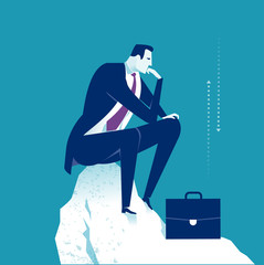 Thinker. Thinking manager. Business concept illustration © bizvector