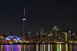 Night view to Toronto downtown
