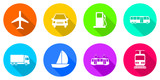 Fototapety Flat design transportation vector icon set