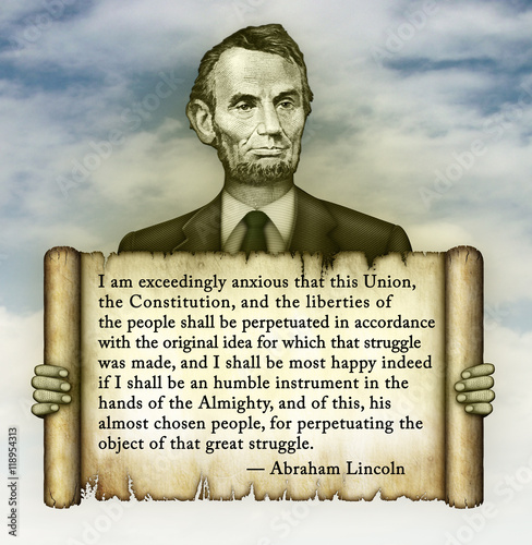 Poster Abraham Lincoln Quote on the Constitution and Liberty