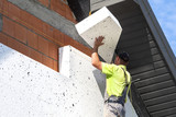 Elevation of the building Styrofoam insulation - 118954790