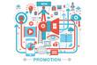 Modern Flat thin Line design Promotion promo concept for web banner website, presentation, flyer and poster.
