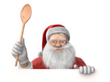 Cooking with Santa Claus to celebrate an happy Christmas and a new year