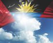 Antigua and Bermuda flag on a beautiful day