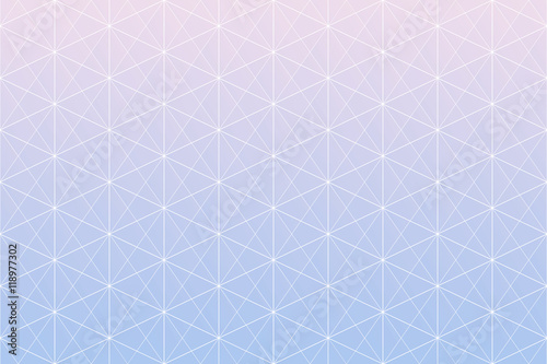 Geometric patterns. Rose Quartz and Serenity gradient colors geometric abstract background. Seamless geometric pattern triangle, square and hexagon shapes with white line. - 118977302