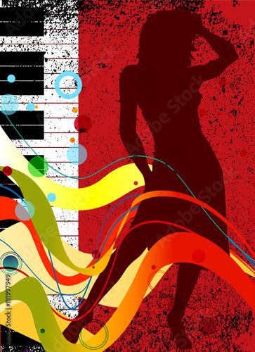 Fototapeta Musical Dance Background