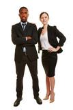 Business Duo mit zwei Geschäftsleuten