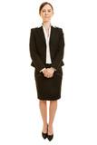 Geschäftsfrau frontal von vorne