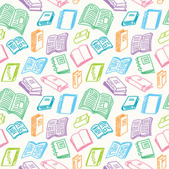 Books sketch seamless