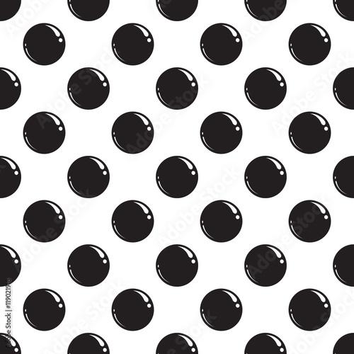 Fototapeta Seamless pattern with black dots. Vector illustration EPS 10