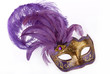 Lilac carnival mask