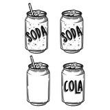 Vector soda drawing. Hand drawn soda illustrations. Vintage drink sketch. Great for restaurant or cafe drink menu. - 119032111