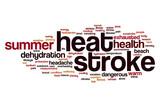 Heat stroke word cloud