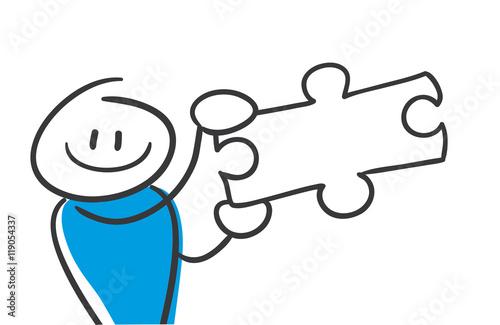Stick Figures Series Blue / Puzzle