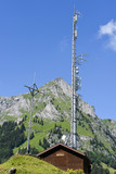 Mountain landscape with communication antenna over Engelberg