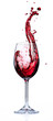 Quadro Red Wine Splashing In Glasses