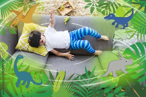 Poster Virtual Reality Dinosaurs