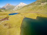Passo del Bernina - Svizzera - Bernina Express - Lej Pitschen - Lej Nair - Vista aerea verso nord