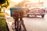 Fahrrad auf Kuba bei Sonnenuntergang