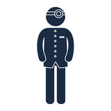 man doctor stethoscope medical occupation work profession uniform vector illustration