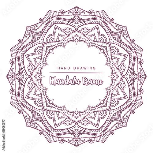 Zdjęcia na płótnie, fototapety, obrazy : Vector mandala for coloring with floral decorative elements. Pat
