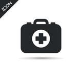 Medicine briefcase icon. Medicine vector symbol.