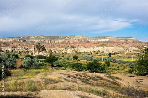 Zdjęcia na płótnie, fototapety, obrazy : Stone formations in Cappadocia, Turkey