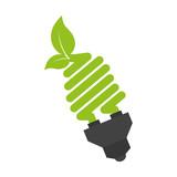 bulb power leaves plant ecology nature enviromental vector illustration